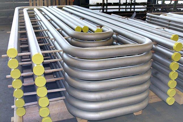 Pipe bends for the foodstuff industry